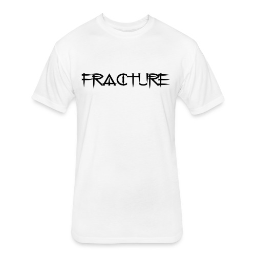 Men's White FRACTURE Fitted Cotton/Poly T-Shirt w/Black Original Font - Fitted Cotton/Poly T-Shirt by Next Level