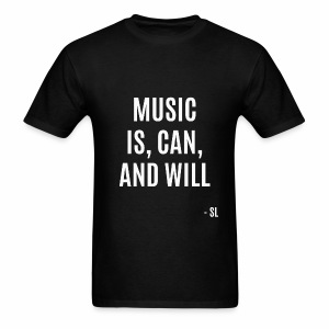 Stephanie Lahart Inspirational Music is Quotes T-shirt. - Men's T-Shirt