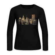 Long Sleeve Shirts ~ Women's Long Sleeve Jersey T-Shirt ~ I Love This City