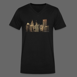 I Love This City - Men's V-Neck T-Shirt by Canvas
