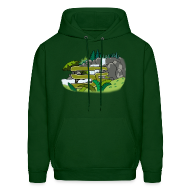 Hoodies ~ Men's Hoodie ~ SoaR Sniping Waterfall
