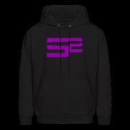Hoodies ~ Men's Hoodie ~ SoaR Sniping Purple Logo Hoodie
