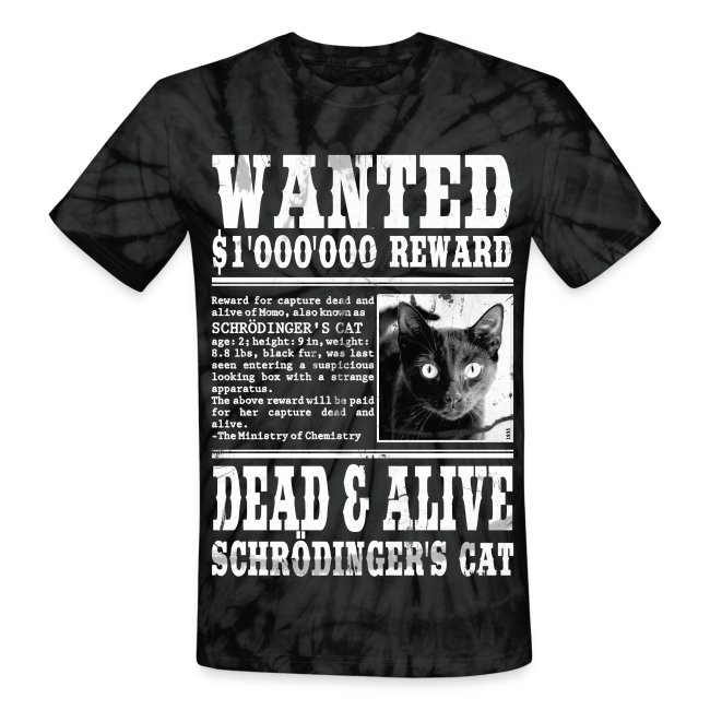 60e2744a chemicalshirts | Schrödingers Cat Wanted Dead and Alive - Unisex Tie ...