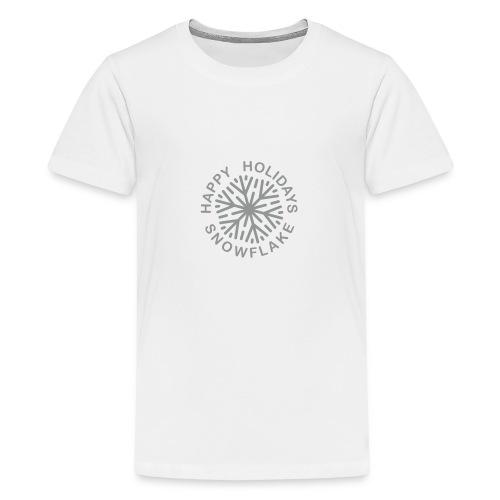 * Happy Holidays, Snowflake * (velveteen.print)  - T-shirt premium pour ados