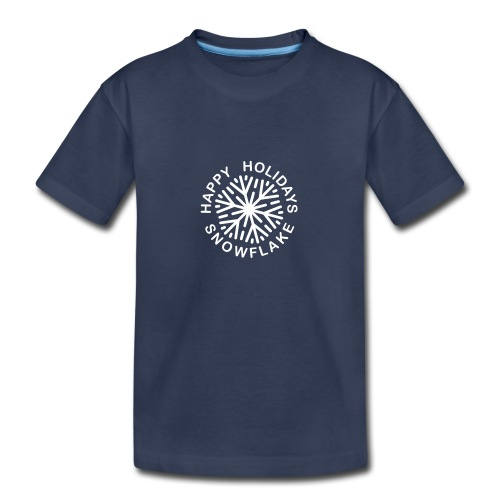 * Happy Holidays, Snowflake *  - T-shirt premium pour ados