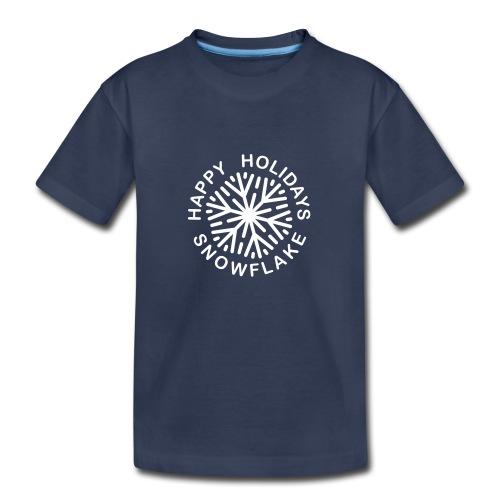 * Happy Holidays, Snowflake * (velveteen.print)  - T-shirt premium pour enfants