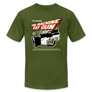 Time Machine Ray Gun AA - Men's T-Shirt by American Apparel
