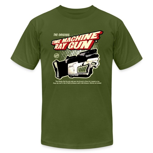 Time Machine Ray Gun AA - Men's  Jersey T-Shirt