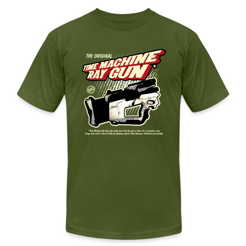 Time Machine Ray Gun AA - Men's Fine Jersey T-Shirt