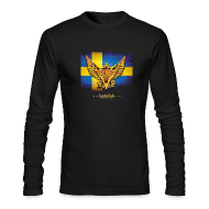 Long Sleeve Shirts ~ Men's Long Sleeve T-Shirt by Next Level ~ SWEDEN ROCK Long Sleeve