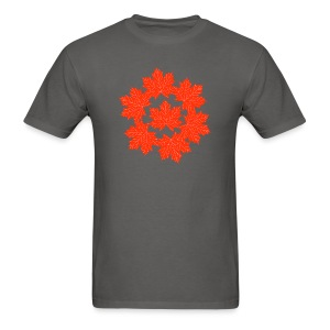 Red maple leaves pattern - Men's T-Shirt