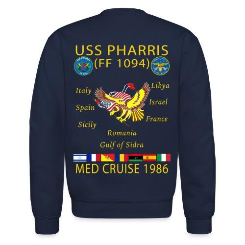 USS PHARRIS FF-1094 1986 CRUISE SWEATSHIRT - Crewneck Sweatshirt