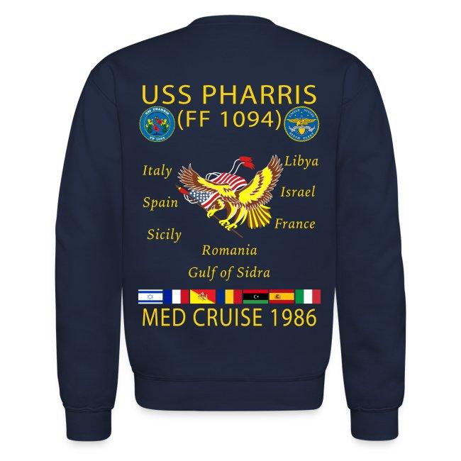 USS PHARRIS FF-1094 1986 CRUISE SWEATSHIRT