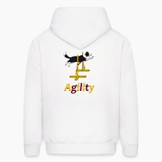 Agility Border Collie jump Hoodies