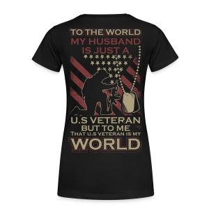 My World My Veteran - Women's Premium T-Shirt