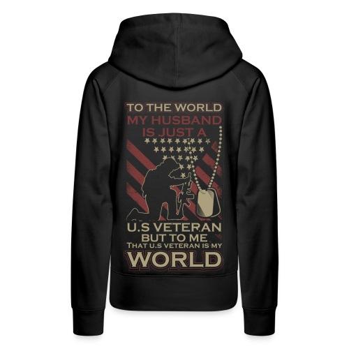 My World My Veteran - Women's Premium Hoodie
