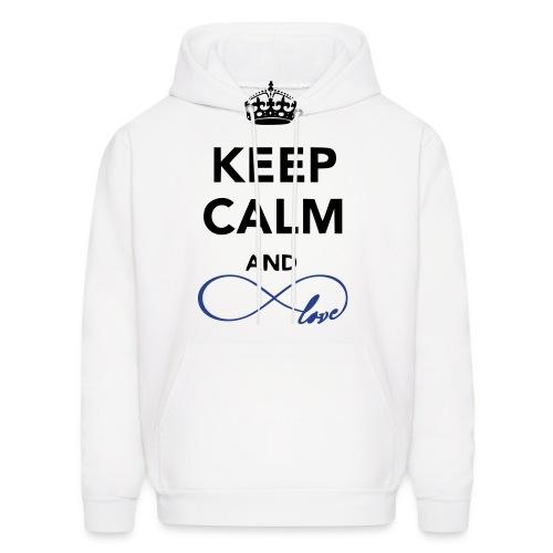 Keep Calm and LOVE hoodie - Men's Hoodie