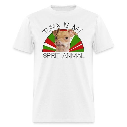Tuna is my Spirit Animal Men's Tee (Holiday Red) - Men's T-Shirt
