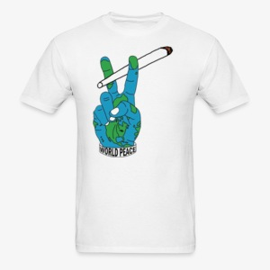 world peace men's tee - Men's T-Shirt