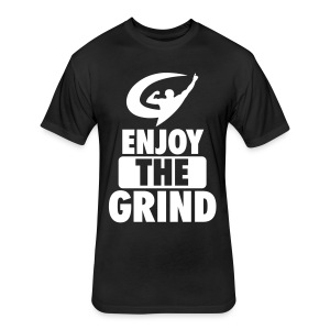 EnjoyTheGrind | Black Tee - Fitted Cotton/Poly T-Shirt by Next Level