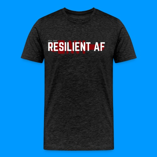 RESILIENT WHITE with red - Men's Premium T-Shirt