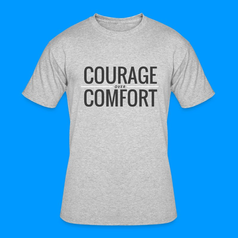 COURAGEcomfort white larg - Men's 50/50 T-Shirt