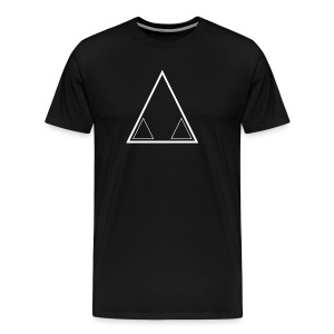 Graffiti Triangle White (Male) - Men's Premium T-Shirt