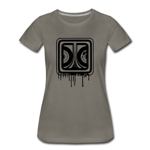 Graffiti Logo Black (Female) - Women's Premium T-Shirt