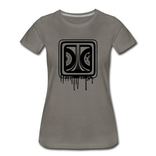 Graffiti Logo Black (Female) - Women's Premium T-Shirt