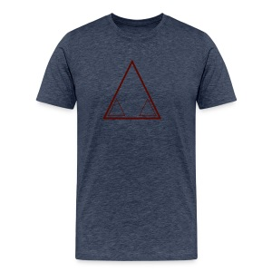 Graffiti Triangle Red (Male) - Men's Premium T-Shirt