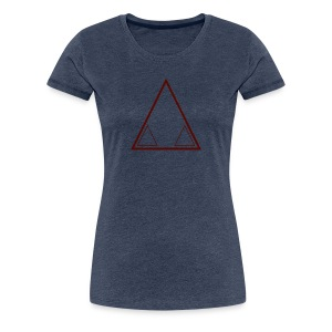 Graffiti Triangle Red (Female) - Women's Premium T-Shirt