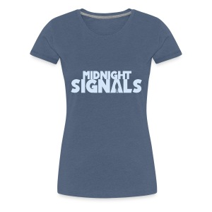 Midnight Signals Light Blue (Female) - Women's Premium T-Shirt