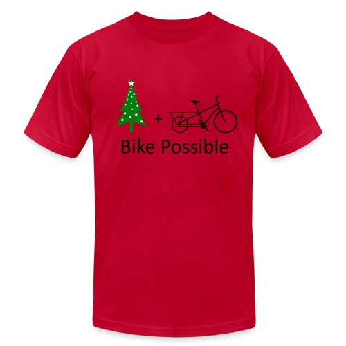 Christmas Tree by Cargo Bike - Men's Fine Jersey T-Shirt
