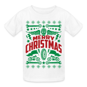 Motorcycle Ugly Christmas Sweater - Kid's T-Shirt - Kids' T-Shirt