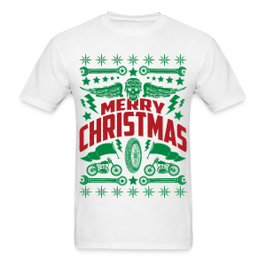 Motorcycle Ugly Christmas Sweater - Men's T-Shirt - Men's T-Shirt