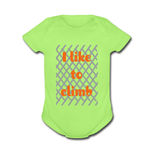 I like to climb - Short Sleeve Baby Bodysuit