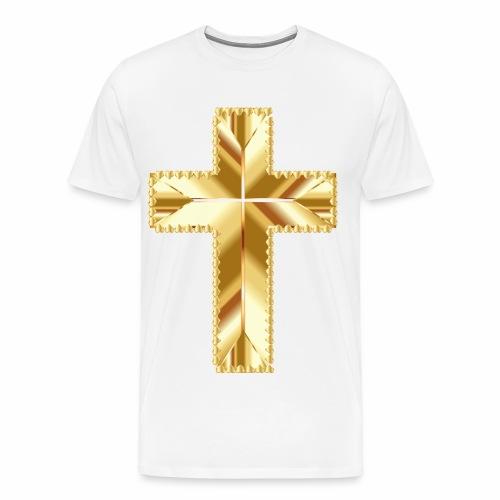 Golden Cross - Men's Premium T-Shirt