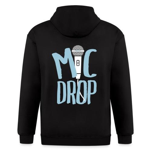 MIC DROP BACK - Men's Zip Hoodie