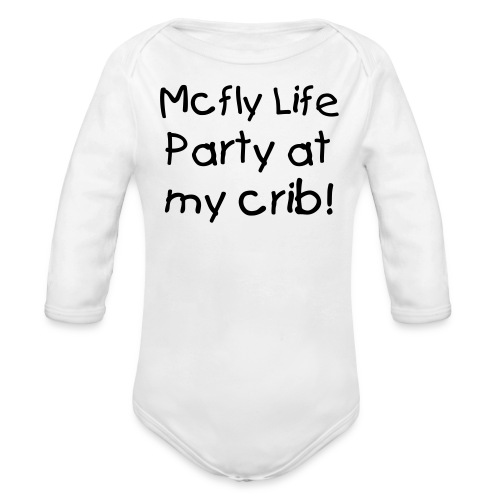 Party at My Crib - Organic Long Sleeve Baby Bodysuit