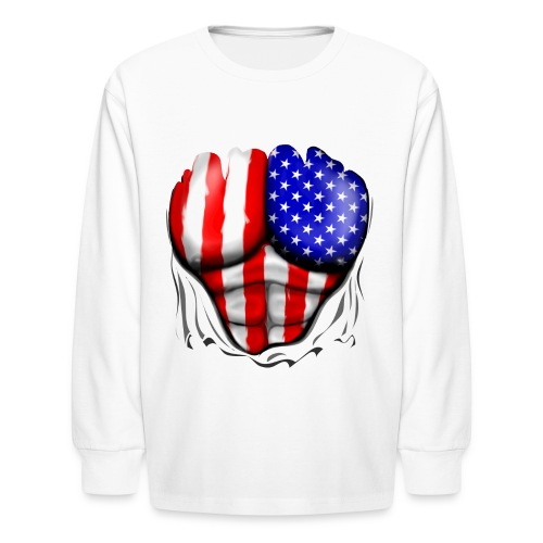 American Superhero - Kids' Long Sleeve T-Shirt