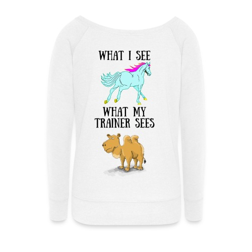 Trainer - Women's Wideneck Sweatshirt