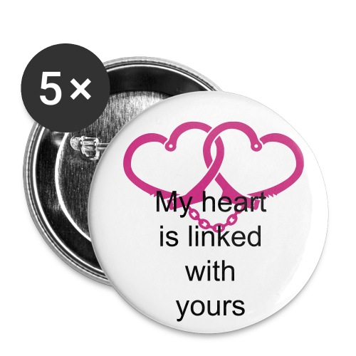 Linked hearts - Small Buttons