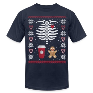 Ugly Christmas Sweater / Coffee & Gingerbread Man - Men's Fine Jersey T-Shirt