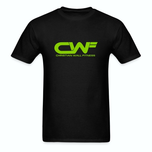 CWF Black Tee with Lime Print - Men's T-Shirt