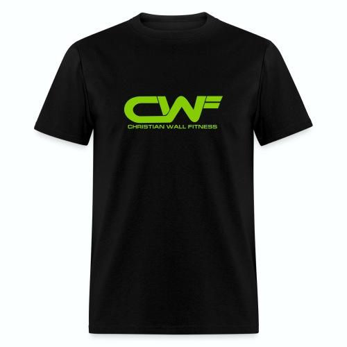 CWF Black Tee with Lime Print - Men's T-Shirt