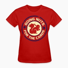 Going Nuts Cardinal Rally Squirrel Shirt Womens