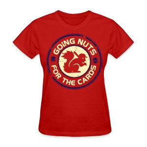 Going Nuts Cardinal Rally Squirrel Womens Shirt - Women's T-Shirt