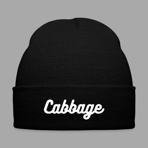 Cabbage hat - Knit Cap with Cuff Print