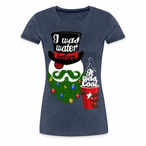 Hipster Snowman - Women's Premium T-Shirt
