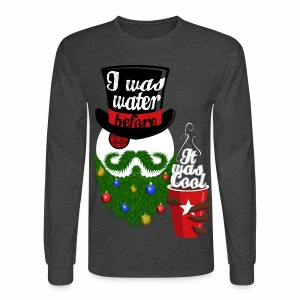 Hipster Snowman - Men's Long Sleeve T-Shirt